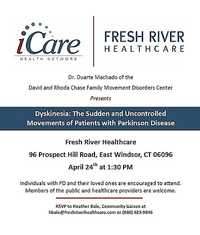 iCare Health Network, Fresh River Healthcare, Parkinson's Disease, Duarte Machado